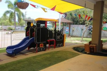 Train for the kids to play on at Bayview Heights Childcare